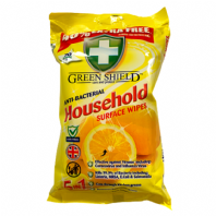 Green Shield '5 in 1' Care & Protect Anti-Bacterial Surface Wipes Kills 99.9% Bacteria